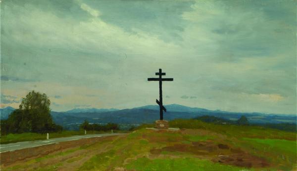 Дмитрий Шмарин. На Кавказе. Крест у города Хадыженск