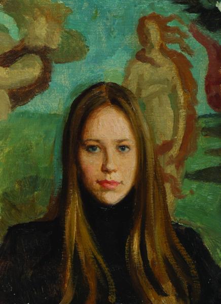 Дмитрий Шмарин. Девушка на фоне Боттичелли
